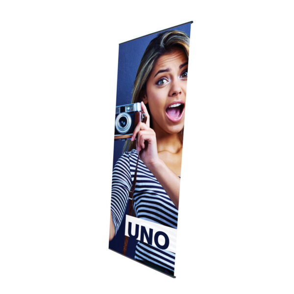 Uno tension banner front open