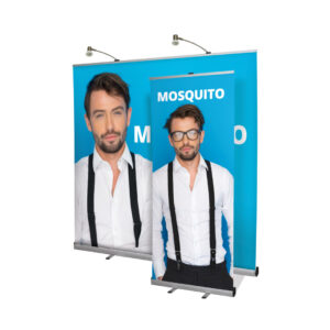 UB196 - Mosquito Roller Banner x2 erected