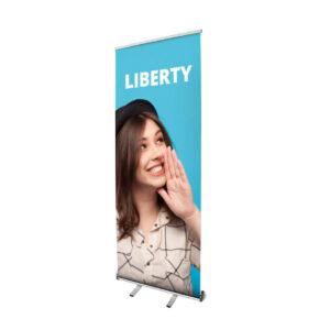 Bespoke Exhibits - UB100-800-01 - Liberty Roller Banner Open